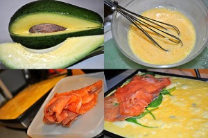 salmon omelet avocado